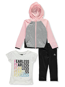Girls' Fearless 3-Piece Leggings Set Outfit by RBX in Rose