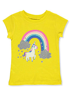 Girls' Unicorn Rainbow T-Shirt by One Step Up in Yellow