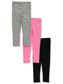 Girls' 3-Pack Leggings by One Step Up in Multi