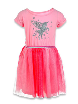 Unicorn Twirl Dress by One Step Up in Pink