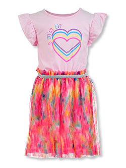 Love More Twirl Dress by One Step Up in Petal pink, Girls Fashion