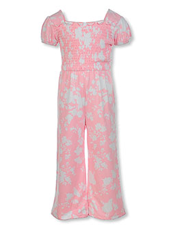 Girls' Floral Jumpsuit by One Step Up in Blossom