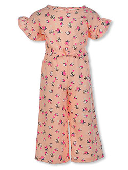 Girls' Floral Jumpsuit by One Step Up in Pink
