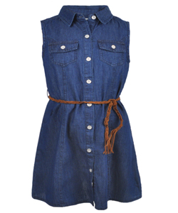 "Wallflower Little Girls' ""Square Dance"" Belted Dress (Sizes 4 – 6X) - CookiesKids.com"