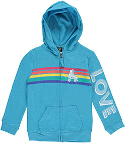 "Star Ride Little Girls' ""Roller Love"" Hoodie (Sizes 4 – 6X) - CookiesKids.com"