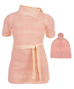 Star Ride Little Girls' Sweater Dress with Hat (Sizes 4 – 6X) - CookiesKids.com