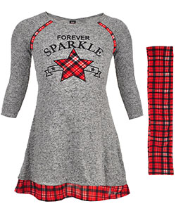 Star Ride Little Girls' Knit Dress with Scarf (Sizes 4 – 6X) - CookiesKids.com