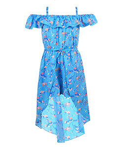 Star Ride Girls' Cold Shoulder Walk-Thru Dress - CookiesKids.com