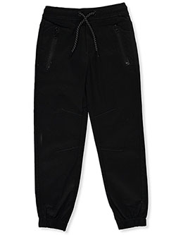 Boys' Zip Pocket Twill joggers by No Fuze in Black