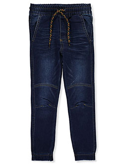 Boys' Drawstring Denim Joggers by Hawk in Dark blue