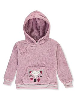Girls' Animal Plush Hoodie by Star Ride in lavender/multi, pink/multi and white/multi