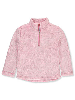 Sherpa Plush Pullover by Star Ride in Pink, Girls Fashion