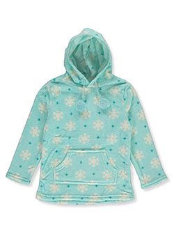 Girls' Snow Plush Hoodie by Star Ride in Aqua/multi