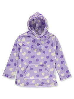 Girls' Heart Plush Hoodie by Star Ride in Lavender/multi