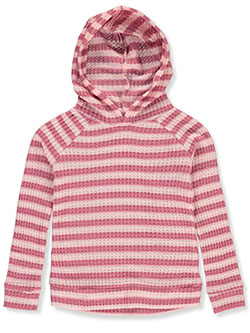 Girls' Thermal Hoodie by Wallflower in Assorted, Girls Fashion