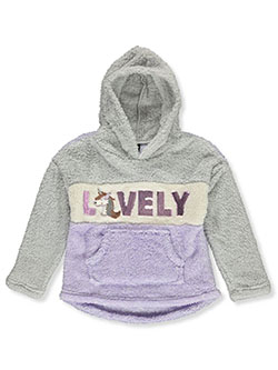 Girls' Lovely Plush Hoodie by Star Ride in Lilac/multi, Girls Fashion