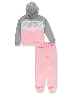 Star Ride Girls Good Vibes 2-Piece Sweatsuit Outfit