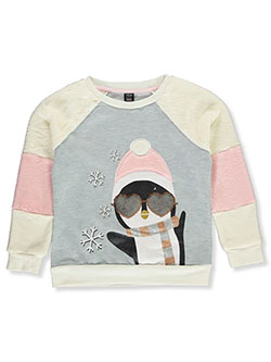 Girls' Plush Penguin Sweatshirt by Star Ride in Blue/multi