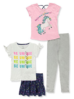 Girls' Unicorns 4-Piece Outfit Set by Sweet Butterfly in Multi