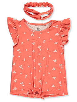 Girls' Floral Top by Star Ride in Orange