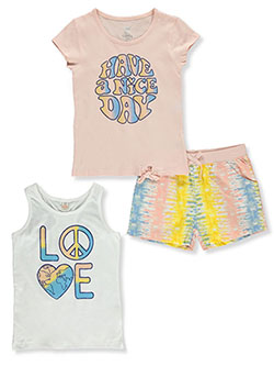 3-Piece Shorts Set Outfit by Sweet Butterfly in Bright white
