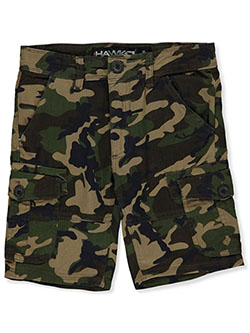 Boys' Camo Cargo Shorts by Hawk in Camo