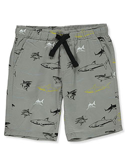 Boys' Shark Pull-On Shorts by Hawk in Gray