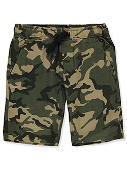 Boys' Camo Pull-On Shorts by Hawk in Camo