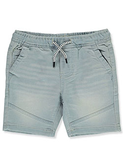 Boys' Pull-On Terry Moto Shorts by Panyc in Denim
