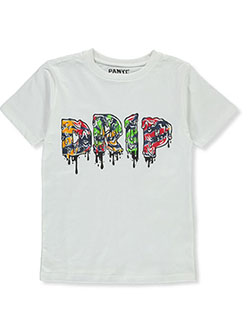 Panyc Boys' Drip T-Shirt by Star Wear in White, Sizes 8-20
