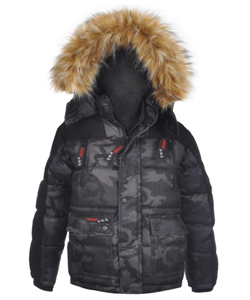 "Canada Weather Gear Big Boys' ""Textured Camo"" Insulated Jacket (Sizes 8 – 20) - CookiesKids.com"