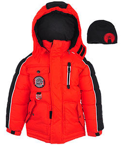 Weatherproof Little Boys' Insulated Jacket with Beanie (Sizes 4 – 7) - CookiesKids.com