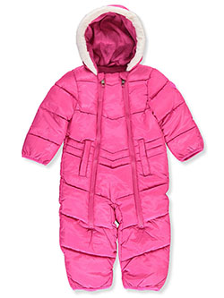 Baby Girls' Angled Baffle Pram Suit by Steve Madden in Fuchsia - Snowsuits