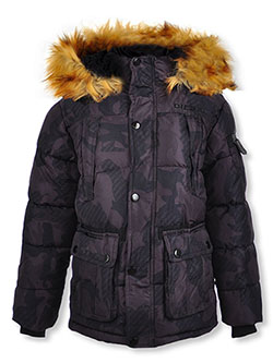 Boys' Quad Pocket Insulated Parka by Diesel in black and camo