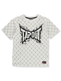 Boys' Allover Chainlink T-Shirt by Tapout in White, Boys Fashion