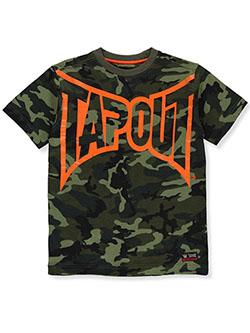 Boys' Camo T-Shirt by Tapout in Green camo, Boys Fashion