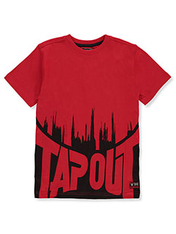 Boys' Ink Splash T-Shirt by Tapout in Red, Boys Fashion