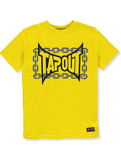 Boys' Chain Border T-Shirt by Tapout in Yellow, Boys Fashion