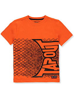 Boys' Flipped Chainlink T-Shirt by Tapout in Orange, Boys Fashion