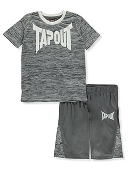 Classic Logo 2-Piece Shorts Set Outfit by Tapout in White