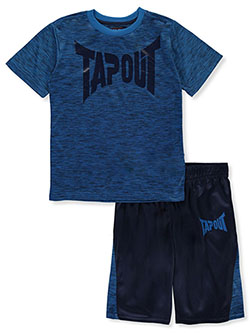 Classic Logo 2-Piece Shorts Set Outfit by Tapout in Blue