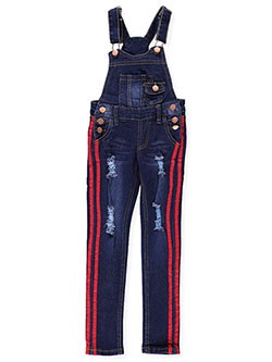 Girls' Skinny Overalls by Teen Gs in Dark blue