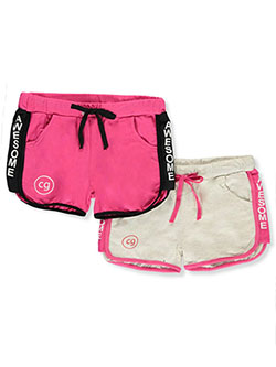 Girls' Awesome 2-Pack Athletic Shorts by Cover Girl in White/multi