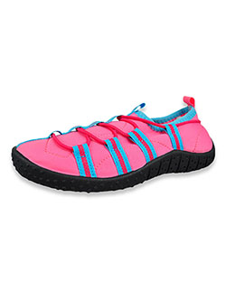 Girls' Cool Water Shoes by Aqua Kiks in black/fuchsia and pink/blue