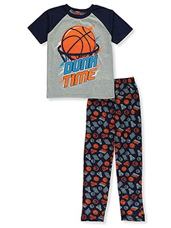 Boys' Basketball 2-Piece Pajamas by Tuff Guys in gray multi and royal/multi - $9.99