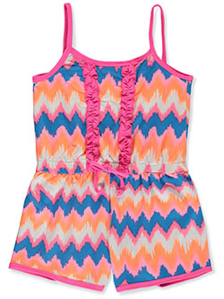 Baby Girls' Romper by Angel Face in hot pink and neon lime