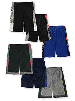 6-Pack Athletic Shorts by Pro Athlete Performance in Multi, Boys Fashion