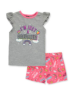 Girls' 2-Piece Pajamas by Angel Face in Gray multi