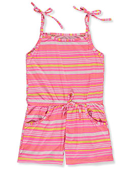 Girls' Striped Romper by Angel Face in pink/multi and white/multi, Girls Fashion