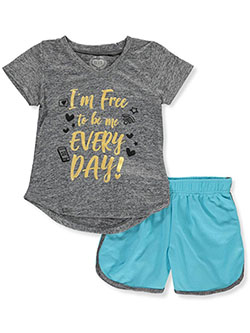 Free to Be Me 2-Piece Shorts Set Outfit by Diva in Charcoal multi